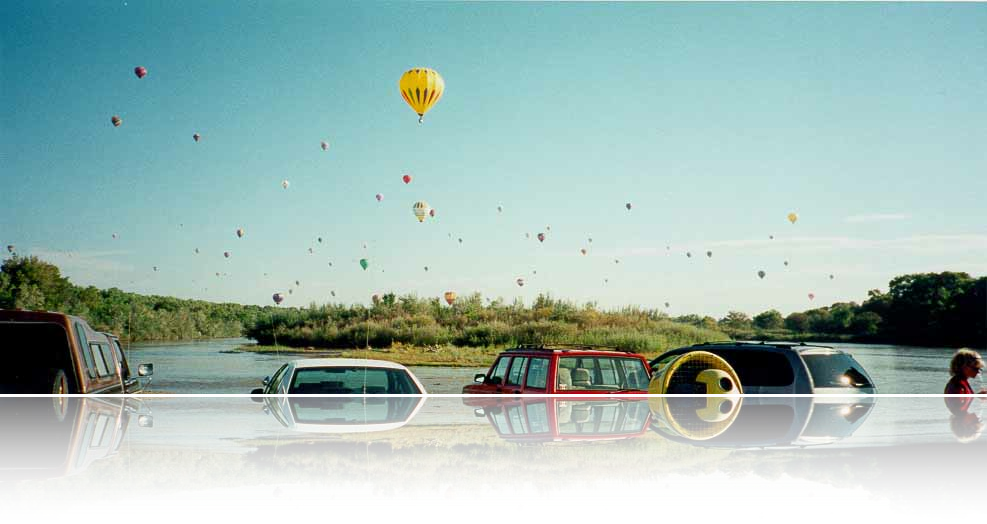 panorama of balloons